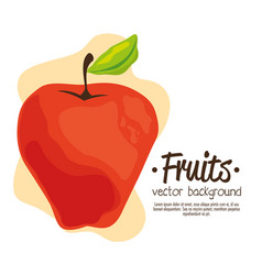 Apple fresh and healthy fruit vector
