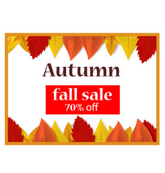 Autumn fall sale off concept background realistic vector