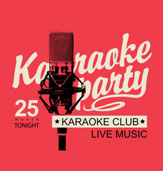Banner for a karaoke party vector