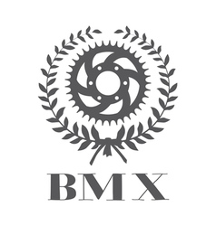 BMX concept with cogwheel vector image