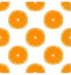 bright seamless pattern with oranges vector image