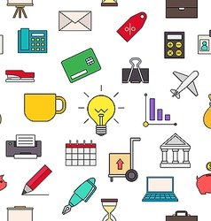 Business colorful pattern icons vector