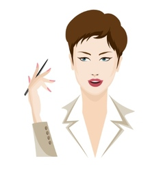 Business lady vector image