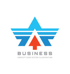 Business logo design abstract wing sign letter vector