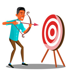 business purpose manager shooting at the target vector image