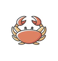 Cancer zodiac sign rgb color icon vector