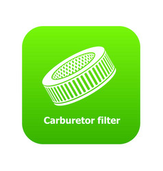 Car air filters icon green vector