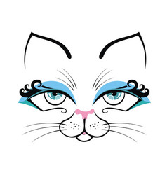 cat cute cartoon vector image