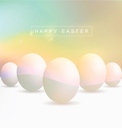 Colorful blurred egg objects vector image