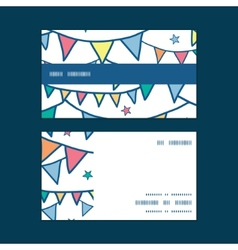 Colorful doodle bunting flags horizontal stripe vector