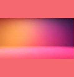 Colorful gradient studio backdrop with empty space vector