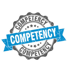 competency stamp sign seal vector image