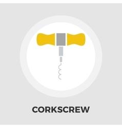 Corkscrew flat icon vector image