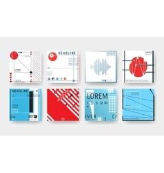 Cover brochures set vector