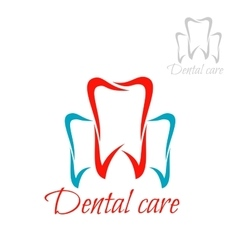Dentistry tooth dental care dentist icon vector image