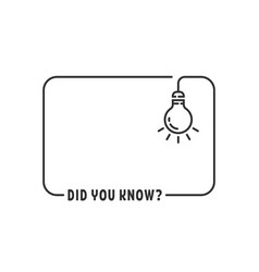 Did you know with hanging bulb vector