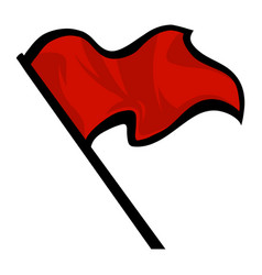 flag waving icon vector image