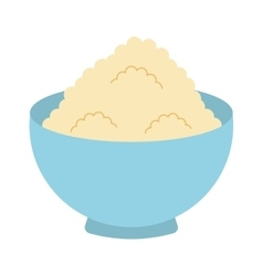 Flour powder dish isolated icon design vector