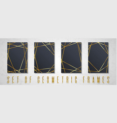 gold collection of geometrical vector image