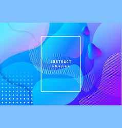 gradient geometric background with fluid liquid vector image