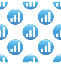 Growing graph sign pattern vector image
