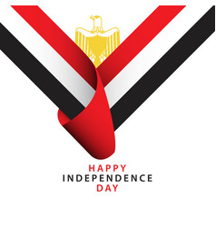 Happy egypt independence day template design vector