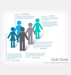 Infographic our team icon vector