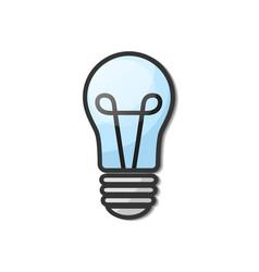 lightbulb - creative sketch draw vector image