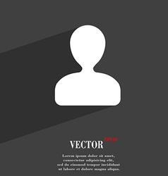 male silhouette icon symbol Flat modern web design vector image