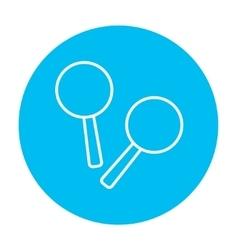 Maracas line icon vector image