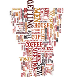 Meet men this weekend text background word cloud vector