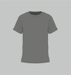 mens black t-shirt vector image