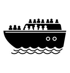 Migrant ship icon simple style vector