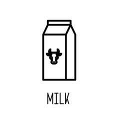 milk package line icon vector image