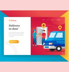 modern flat design concept online shipping vector image