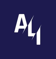 Monogram letters initial logo design ali vector