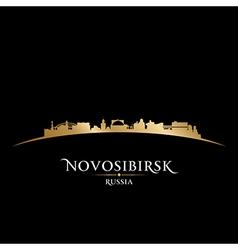 Novosibirsk Russia city skyline silhouette vector