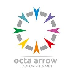 Octa arrow design icon symbol star vector