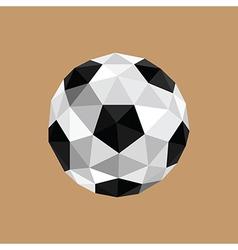 Origami soccer ball vector