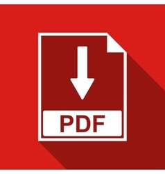 PDF file document flat icon with long shadow vector