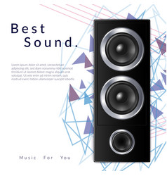 realistic audio system vector image