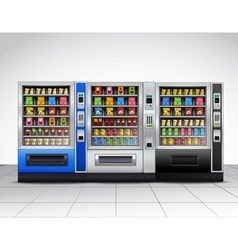 Realistic vending machines front view vector