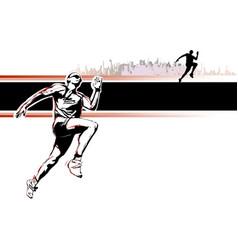 runner poster vector image