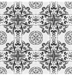 seamless pattern with swirls and dots vector image