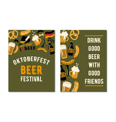 set 2 posters for craft beer festival vector image