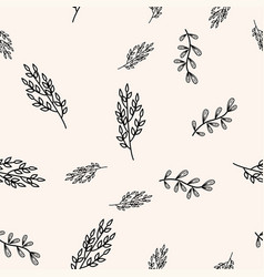 Simple black and beige plants background floral vector