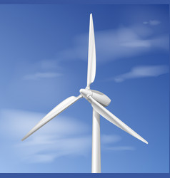 Single wind turbine vector