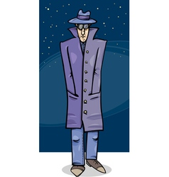 sleuth or gangster cartoon vector image