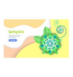 spring sale website with information on offers vector image