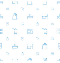supermarket icons pattern seamless white vector image